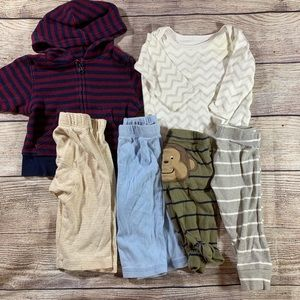 Other - 3-6 Month Bundle 4 pants 2 tops
